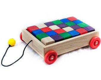Pull Wagon with Blocks