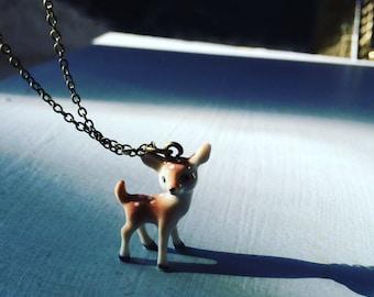 Ceramic Deer Necklace