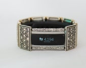 FitBit Alta Band Cover: Simple Silver & Gold Celtic with Window
