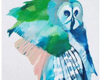 Limited Edition Giclee Print 'Woodland Owl'