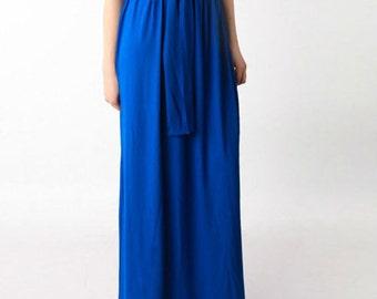 Blue maxi skirt | Etsy