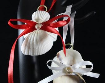 Seashell Angel ornaments (set of 2)