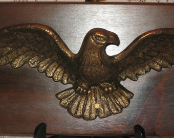 Eagle Cast Metal Wall Plaque Large 21 x 7  inches