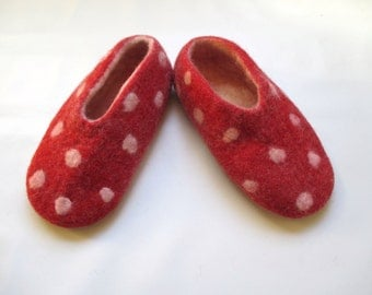 Felted slippers size 36 (eu) or 5 (us)