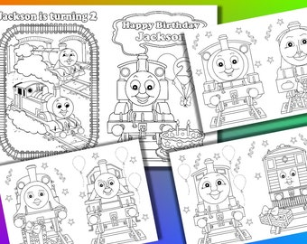 Thomas Birthday Party Coloring Book Pages PDF File