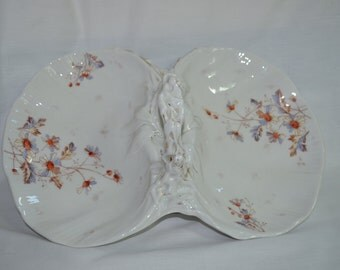 Two Sided Veggie Porcelain Dish