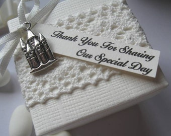 Luxury Fairytale Castle Wedding Favours - Table Decorations - Personalised