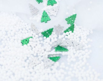 Glitter Christmas Tree Buttons