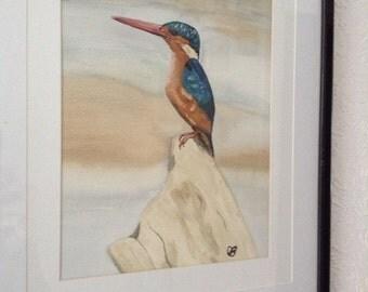 Kingfisher - original watercolor