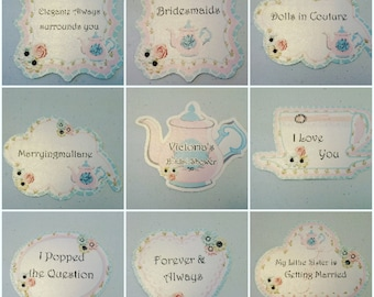 Photo Booth Tea potty Bridal shower party 6PC