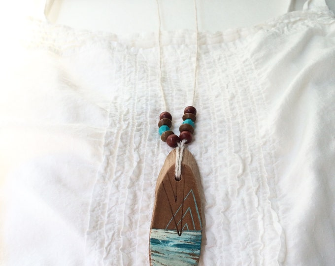 Last Meridian IV / art pendant necklace / ocean art jewelry