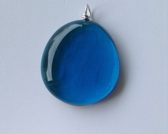 Turquoise Blue Glass Pendant to Make Your Necklace