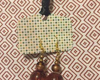 Handmade Dangle Bronze/Gold Earrings