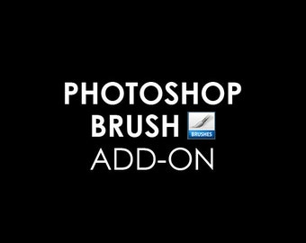 Custom Photoshop Brush Add-on of the Already Created Logo