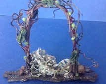 Beautiful Jeweled Handmade Fairy Garden Arch Decorations . Handmade Miniature Arch Handmade Terrarium Accessory