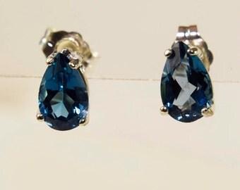 London Blue Topaz Pear Shaped Earrings