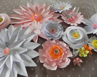 Origami table runners, table runner, flower decoration, wedding, wedding candle , wedding decorations , table center,