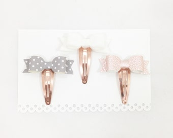 Pink and Grey  (Set of 3)