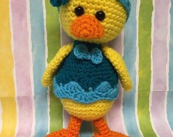 Crocheted Duckling