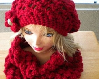Beautiful Scarf/cowl, Crochet Cowl, Woman Accessories, Popcorn Scarf, winter accessories, Autom color.