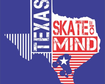Roller Derby T-shirt - Texas Skate Of Mind