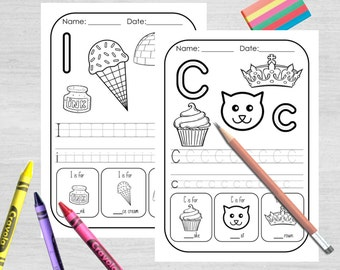 Children's Letter Worksheets - Activity - Fun