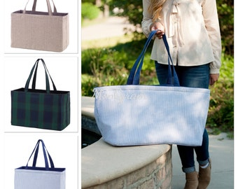Monogram Tote/Monogrammed Tote Bag/Large Bag/ Personalized Bag/ Personalized Tote