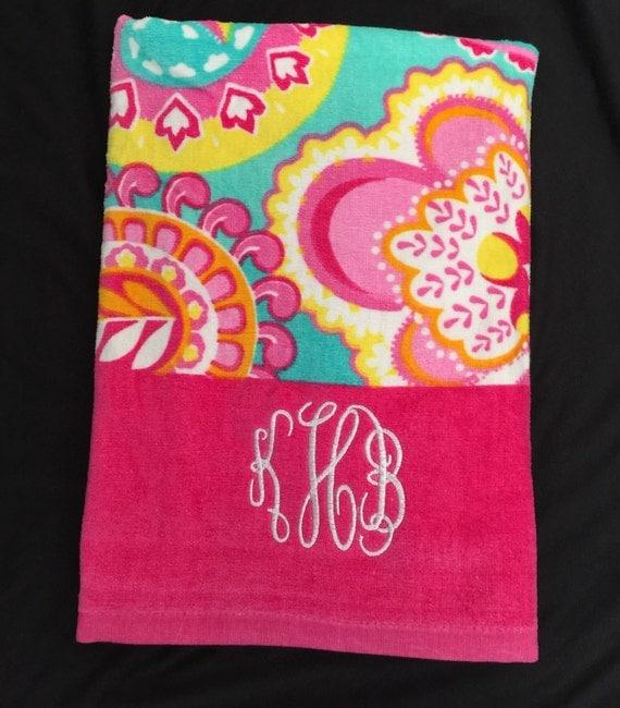 Items Similar To Monogram Beach Towel/ Monogram Pool Towel
