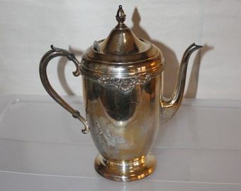 Sheets Rockford s Company Numbered 3870, Made Between 1925 - 1956, Silver Plated, Coffee or Tea Pot w Lid, Patina Included, Gorgeous FINE