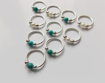 Braids Rings, Grunge Hair Rings, Hair Rings for Braids, Hair Rings, Braid Jewelry, Hair Jewellery, Body Jewellery, Festival Hair Jewelry
