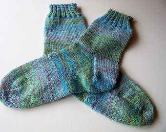 Hand Knitted Socks, Size 6.5 to 8, Wendy Roam Fusion,  Wool / Nylon 75/25%, Camp, Glamp, Surf, Relax, Seamfree.