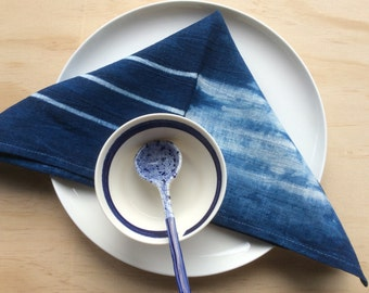 Napkins Set of 4 Indigo Dyed