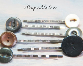 Bobby Pins - Hair Pins - Button Bobby Pins - Button Hair Pins - Christmas Gift - Stocking Stuffer