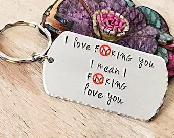 MATURE-Funny Husband Gift, Husband Gift, Boyfriend Gift, Gifts for Men, Valentine's Day Gift, F*ck Keychain, Adult Humor, BDSM Gift