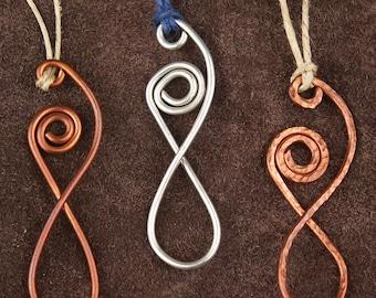 Stylized Wire Goddess Pendant