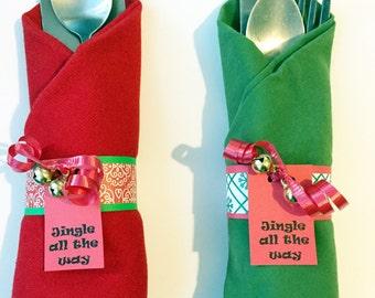 Christmas Napkin Rings - Holiday Decor - Christmas Decor - Christmas Home Decor - Christmas Table - Christmas Decorations - Napkin Rings