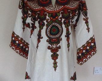 Vintage jave print tunic