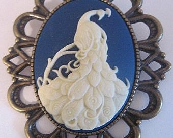 Peacock Cameo Etsy