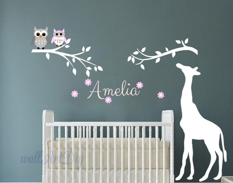 P pini re mur stickers arbre autre pochoirs girafe mur for Pochoir arbre