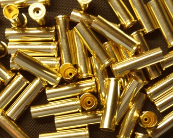 100 Pieces of 357 Magnum Brass Bullet Shell Casings, Brand New, Unused, Empty, Matching Stamp