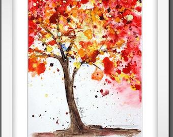 painting,  wall art,abstract painting, yellow , orange   original painting