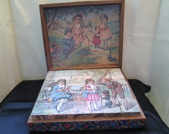 Victorian Wood Picture Blocks 1900's