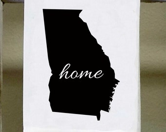 Home Georgia State Kitchen Towel, Dish Towel, white decorative , choose color from color chart