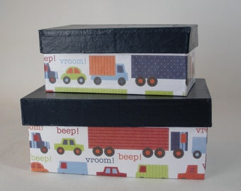Nesting transportation boxes cars trucks trailers