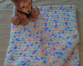Baby Afghan Blanket ~ Boy or Girl ~ Hand Crocheted ~ Finest Soft Acrylic ~ Baby Ombre ~ Best Selling Item