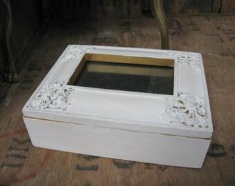 Photo Jewelry Box, Jewellery Box, Jewelry Box, Memento Box, Keepsake Box, Trinket Box, Hand Made, Annie Sloan, Shabby Vintage, Hand Painted