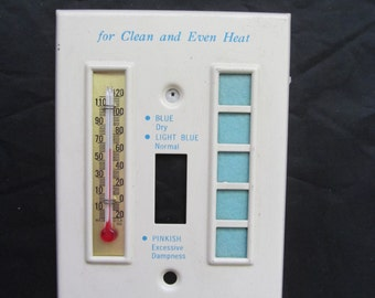 Vintage Advertising Thermometer / Light Switch Plates - Sample