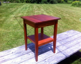 Mahogany End Table Side Table with Shelf