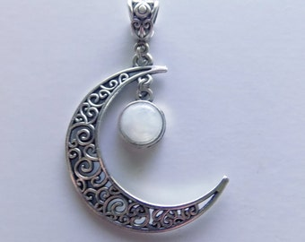 "Moon Necklace "" Moonstone """