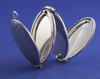 2 pcs- Folding Locket, Multi-Photo Locket, Silver Plate Folding Locket, 4 Photo Locket